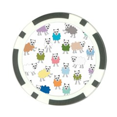 Sheep Cartoon Colorful Poker Chip Card Guard (10 Pack)