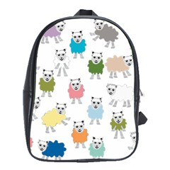 Sheep Cartoon Colorful School Bags(large)