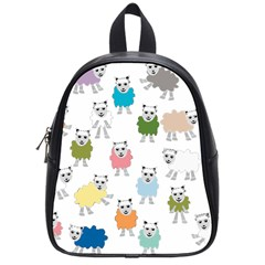 Sheep Cartoon Colorful School Bags (small)