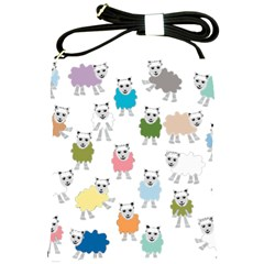 Sheep Cartoon Colorful Shoulder Sling Bags