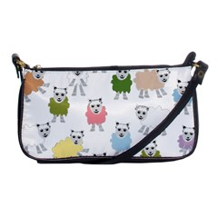 Sheep Cartoon Colorful Shoulder Clutch Bags