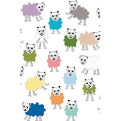 Sheep Cartoon Colorful 5 5  X 8 5  Notebooks