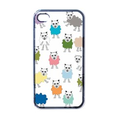 Sheep Cartoon Colorful Apple Iphone 4 Case (black)