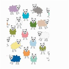 Sheep Cartoon Colorful Large Garden Flag (two Sides)