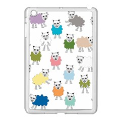 Sheep Cartoon Colorful Apple Ipad Mini Case (white)