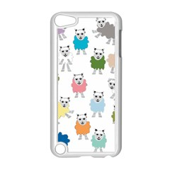 Sheep Cartoon Colorful Apple iPod Touch 5 Case (White)