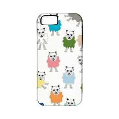 Sheep Cartoon Colorful Apple Iphone 5 Classic Hardshell Case (pc+silicone)
