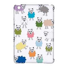 Sheep Cartoon Colorful Apple iPad Mini Hardshell Case (Compatible with Smart Cover)