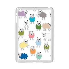 Sheep Cartoon Colorful Ipad Mini 2 Enamel Coated Cases
