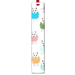 Sheep Cartoon Colorful Large Book Marks