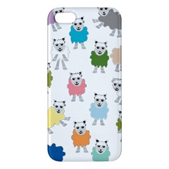 Sheep Cartoon Colorful Apple Iphone 5 Premium Hardshell Case