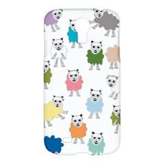 Sheep Cartoon Colorful Samsung Galaxy S4 I9500/i9505 Hardshell Case