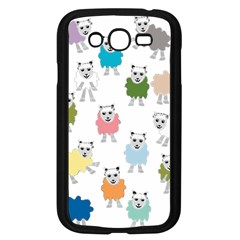 Sheep Cartoon Colorful Samsung Galaxy Grand Duos I9082 Case (black)