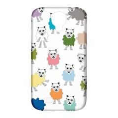 Sheep Cartoon Colorful Samsung Galaxy S4 Classic Hardshell Case (pc+silicone)