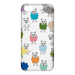 Sheep Cartoon Colorful Apple Iphone 5c Hardshell Case