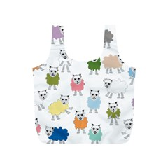 Sheep Cartoon Colorful Full Print Recycle Bags (s)
