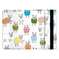Sheep Cartoon Colorful Samsung Galaxy Tab Pro 12 2  Flip Case