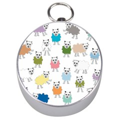Sheep Cartoon Colorful Silver Compasses