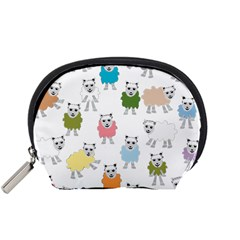 Sheep Cartoon Colorful Accessory Pouches (small)