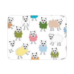 Sheep Cartoon Colorful Double Sided Flano Blanket (mini)