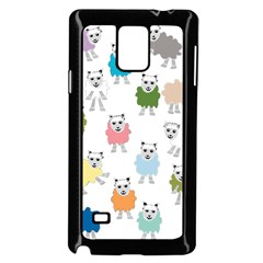 Sheep Cartoon Colorful Samsung Galaxy Note 4 Case (black)