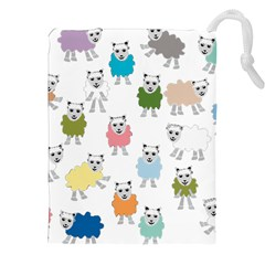 Sheep Cartoon Colorful Drawstring Pouches (xxl)