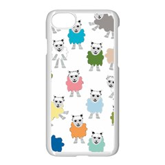 Sheep Cartoon Colorful Apple Iphone 7 Seamless Case (white)