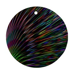 Texture Colorful Abstract Pattern Ornament (Round)