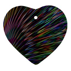 Texture Colorful Abstract Pattern Ornament (heart)