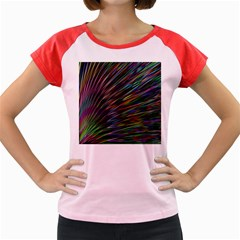 Texture Colorful Abstract Pattern Women s Cap Sleeve T-Shirt