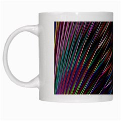 Texture Colorful Abstract Pattern White Mugs