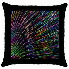 Texture Colorful Abstract Pattern Throw Pillow Case (Black)