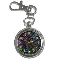 Texture Colorful Abstract Pattern Key Chain Watches