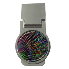 Texture Colorful Abstract Pattern Money Clips (round)