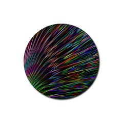Texture Colorful Abstract Pattern Rubber Coaster (round)