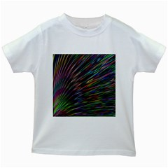 Texture Colorful Abstract Pattern Kids White T-Shirts