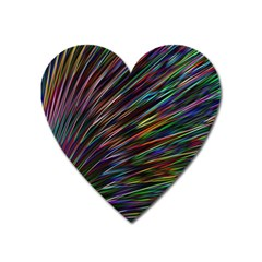 Texture Colorful Abstract Pattern Heart Magnet