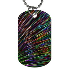 Texture Colorful Abstract Pattern Dog Tag (one Side)