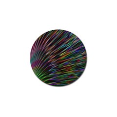 Texture Colorful Abstract Pattern Golf Ball Marker
