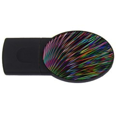 Texture Colorful Abstract Pattern USB Flash Drive Oval (2 GB)