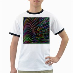Texture Colorful Abstract Pattern Ringer T Shirts