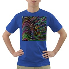 Texture Colorful Abstract Pattern Dark T Shirt