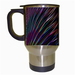 Texture Colorful Abstract Pattern Travel Mugs (white)