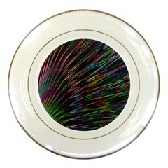 Texture Colorful Abstract Pattern Porcelain Plates