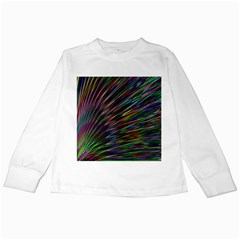 Texture Colorful Abstract Pattern Kids Long Sleeve T Shirts