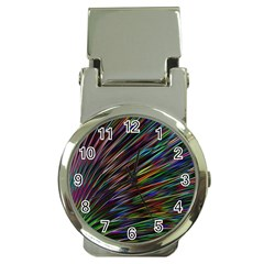 Texture Colorful Abstract Pattern Money Clip Watches