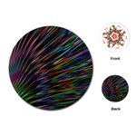 Texture Colorful Abstract Pattern Playing Cards (Round)  Front