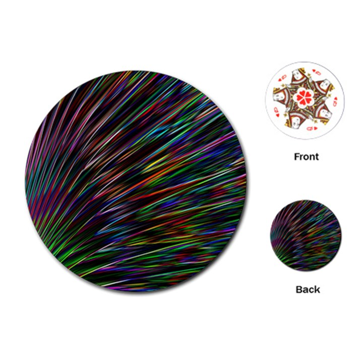 Texture Colorful Abstract Pattern Playing Cards (Round)