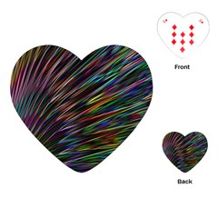 Texture Colorful Abstract Pattern Playing Cards (Heart)