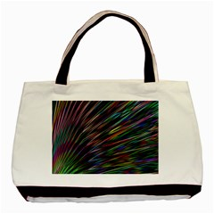 Texture Colorful Abstract Pattern Basic Tote Bag